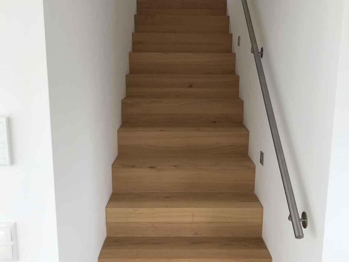 Treppe aus Parkett